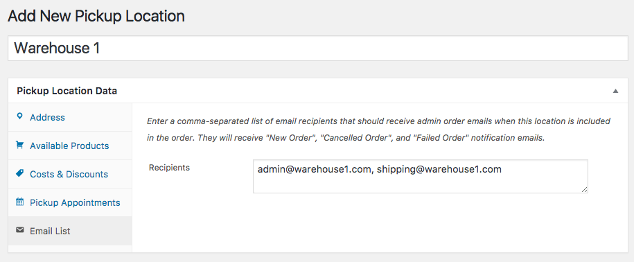 pickup emails